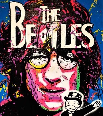 "Lennon Monopoly The Beatles - 40"" x 30"" inch - mixed media"