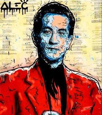 "De Niro Icon (Casino) - 48"" x 36"" inch - mixed media"