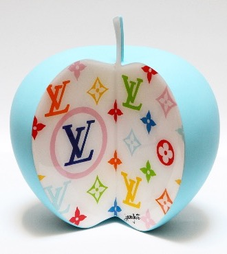 "Luxury Apple - 7"" inch - Ceramic sculpture"