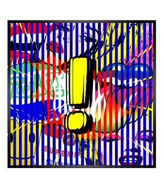 "Exclamation pop ! - Kinetic Pop art - 14"" x 14"" inch"