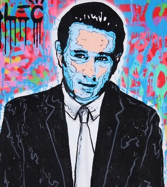 "De Niro Icon - 52"" x 30"" inch - mixed media"