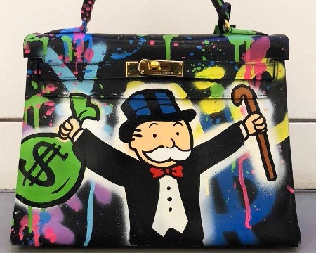 Monopoly Holding $ and Cane Birkin Bag -