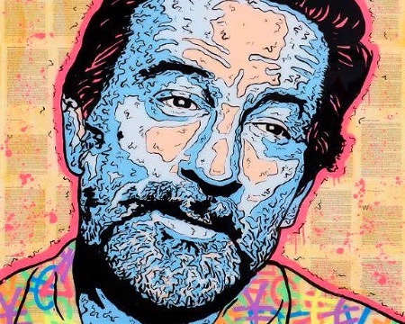 "De Niro Icon (Jackie Brown) - 72"" x 48"" inch - mixed media"