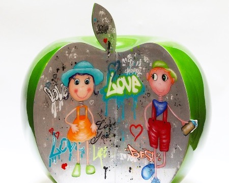 "Love rendez-vous - 16"" inch - Ceramic sculpture"