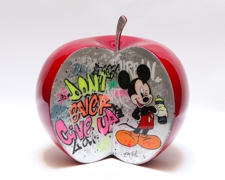 "Mickey's graffiti - 9"" inch - Ceramic sculpture"