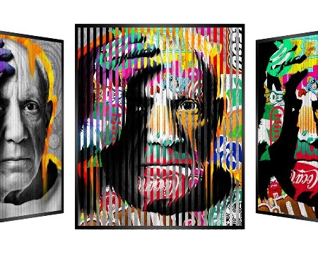 "People and brand - Picasso - Kinetic Pop art - 14"" x 14"" inch"