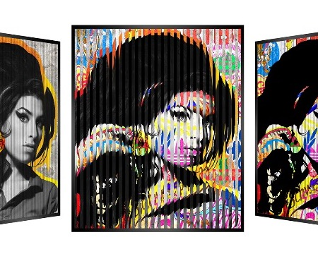 "People and brand - Amy Winehouse - Kinetic Pop art - 14"" x 14"" inch"