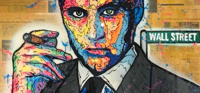 "Michael Douglas Icon - 59"" x 47"" inch - mixed media"