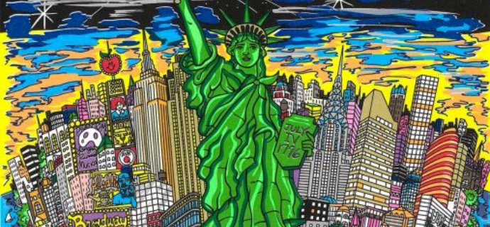 "Liberty and Justice for All - 11"" x 12"" - Serigraphy 3D"