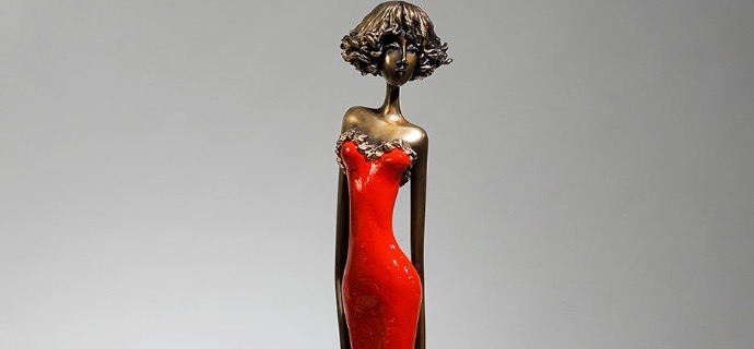 Carla - 98 cm - Sculpture en bronze