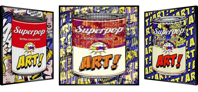 "Can Soup art - SOLD OUT - Kinetic Pop art - 27"" x 27"" inch"