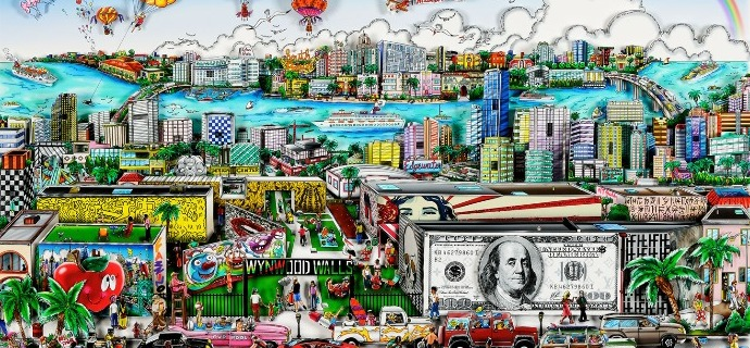"Miami, artistically in the 305 - 30"" x 18"" - Serigraphy 3D"
