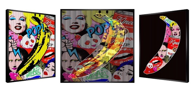 "Bright Signs - Kinetic Pop art - 27"" x 27"" inch"
